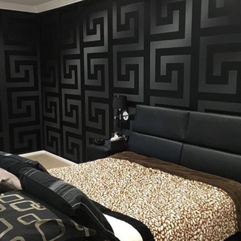 Gold Versace Wallpaper Border Luxury Greek Key Satin Modern Designer Wallpaper Rolls Sheets Home Furniture Diy Plastpath Com Br