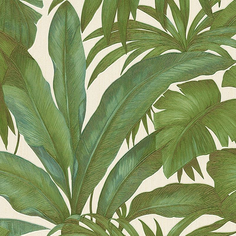 Image of A.s.creations - Versace Green Palm Leaf Wallpaper Extra Wide Textured Vinyl Paste the Wall