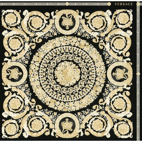 Versace Heritage Black Gold Ornament Wallpaper