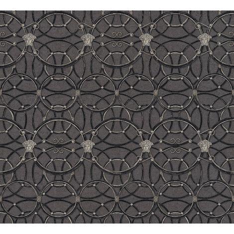 Versace Heritage Black Silver Wallpaper