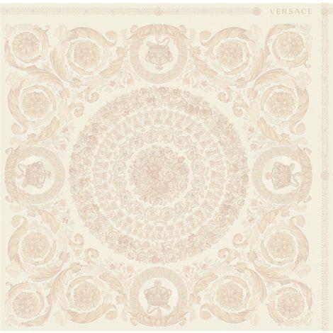 Versace Heritage Pink Wallpaper Baroque Ornament Metallic Paste The Wall Vinyl