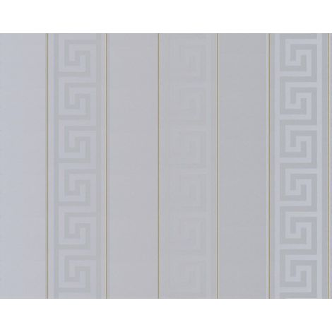 Versace Vertical Stripe Grey Wallpaper