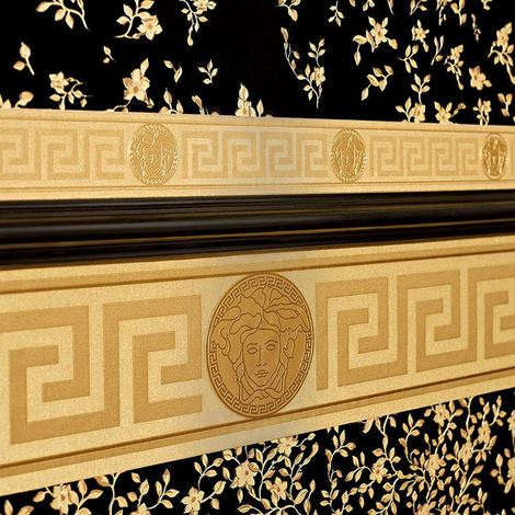 Versace Wallpaper Border Gold Luxury Satin Modern Designer Greek Key