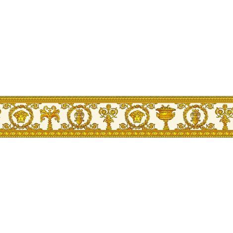 Versace Wallpaper Borders Medusa Head Luxury Designer Embossed 2 Colours