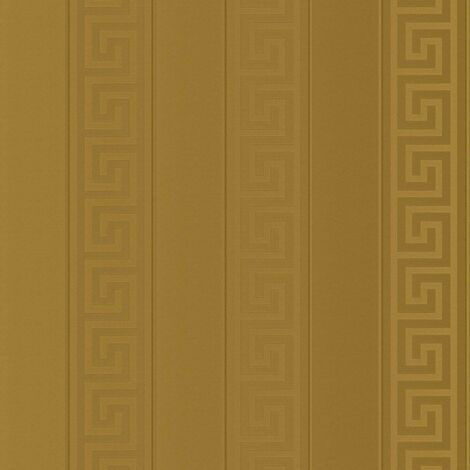 Versace Wallpaper Greek Key Stripe Gold Metallic Paste Wall Vinyl Textured