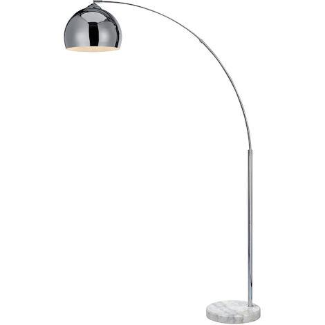 Versanora Arquer Curved Floor Lamp Chrome 170cm | Modern Lighting VN-L00010-UK