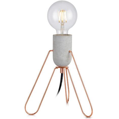 Versanora Stylish LED Bedside Table Lamp Rose Gold Modern Lighting VN-L00022-UK