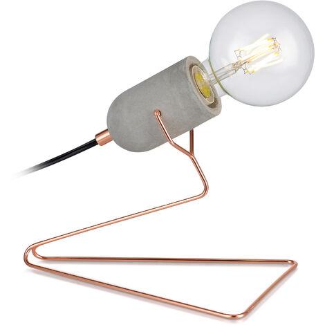 Versanora Stylish LED Bedside Table Lamp Rose Gold Modern Lighting VN-L00023-UK