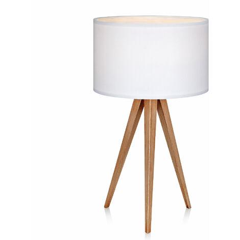 Versanora Tripod LED Bedside Table Lamp White Shade Modern Lighting VN-L00008-UK