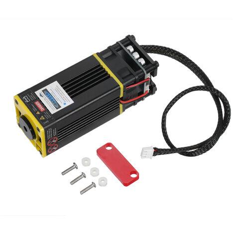 Version amelioree de la machine de gravure laser jaune 40W avec accessoires de mise au point fixe rouge