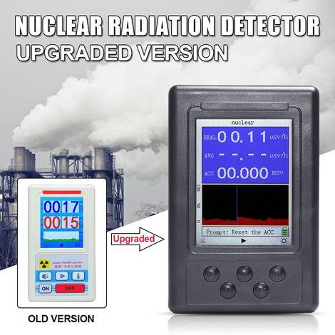 Version améliorée Détecteur de rayonnement nucléaire numérique Écran LCD Affichage Moniteur en temps réel Dosimètre personnel Compteur Geiger Testeur de radioactivité en marbre