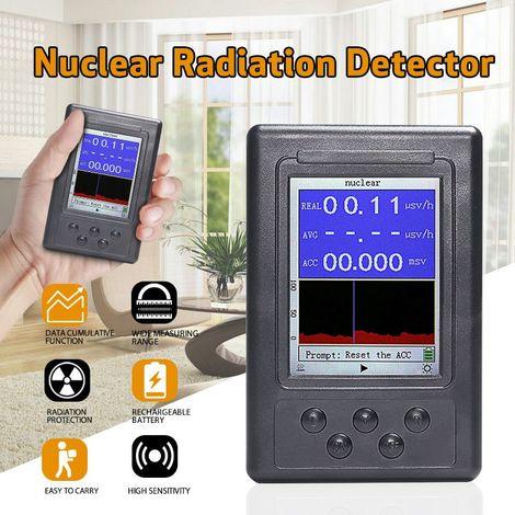 Version améliorée Détecteur de rayonnement nucléaire numérique Écran LCD Affichage Moniteur en temps réel Dosimètre personnel Compteur Geiger Testeur de radioactivité en marbre Mohoo