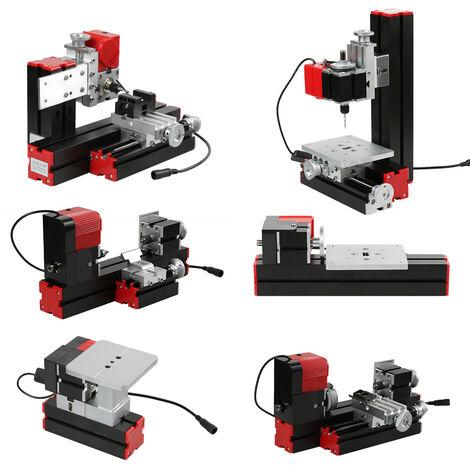Version metal Tour ametaux Mini petite machine-outil combinee Scie multifonction six en un, fraiseuse, perceuse, meuleuse, petite norme europeenne