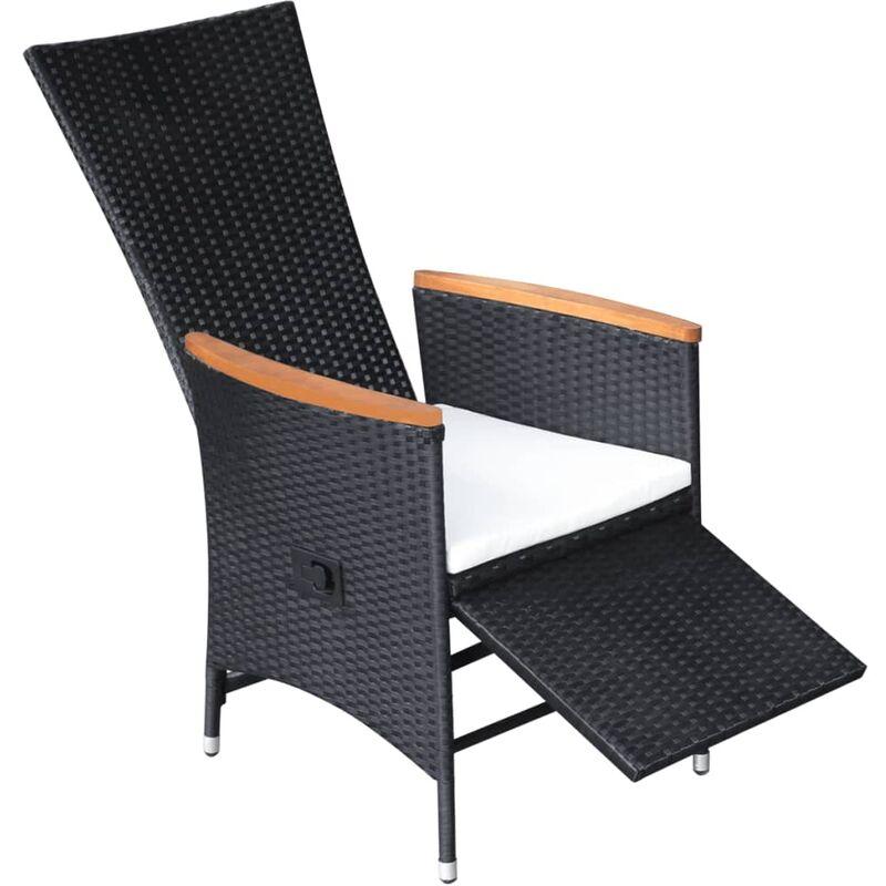 2 Bezüge 2er Set Poly Rattan Gartenstuhl ALU Gestell Stuhl Sessel Kissen