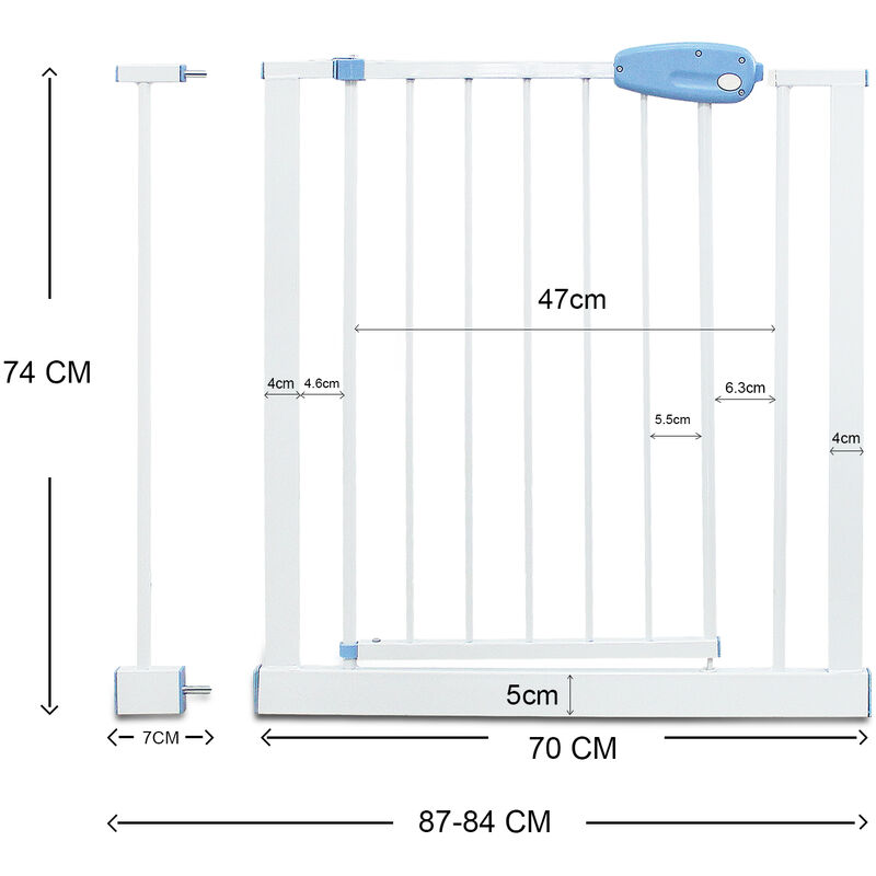 UPP Schutzgitter mobil /& ausziehbar// Treppenschutz Treppengitter Türschutz