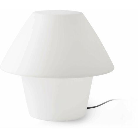 Versus 1-Light White Garden Table Lamp