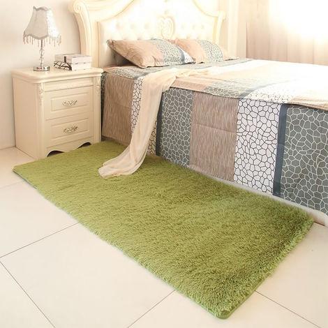 Vert Tapis Salon carpet tapis chambre Fibre de polyeste environ 90x160cm tapis couverture de fourrure