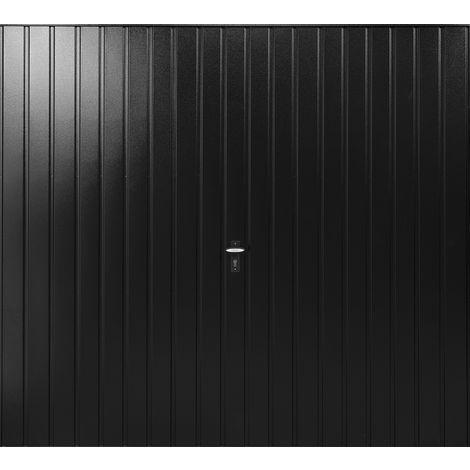 """Vertical 7' 6 """" x 6' 6 """" Framed Steel Garage Door Black"""