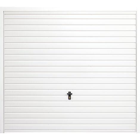 "Vertical 7' 6 "" x 7' Framed Steel Garage Door White"
