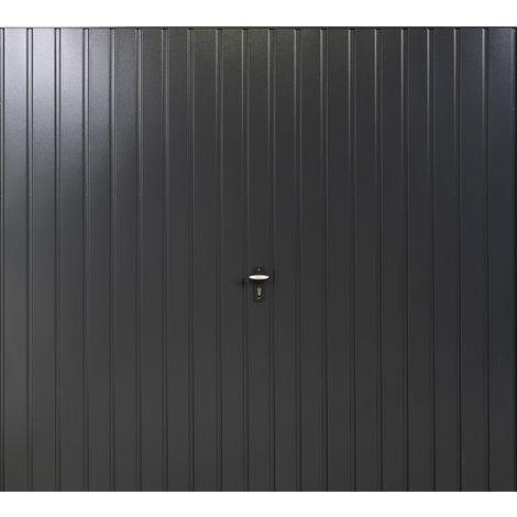 """Vertical 7' x 6' 6 """" Framed Steel Garage Door Anthracite Grey"""