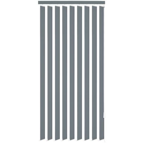 Vertical Blinds Grey Fabric 120x180 cm