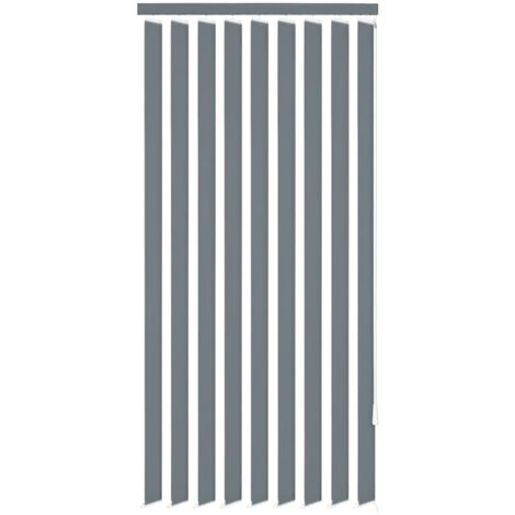 Vertical Blinds Grey Fabric 120x250 cm