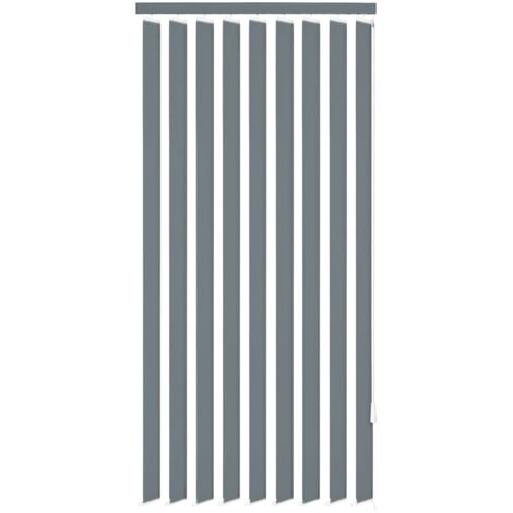 Vertical Blinds Grey Fabric 150x180 cm