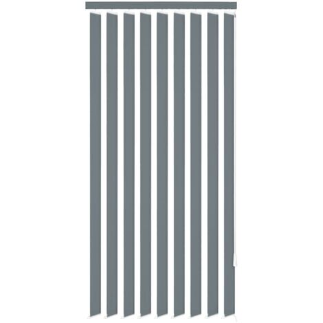 Vertical Blinds Grey Fabric 150x250 cm