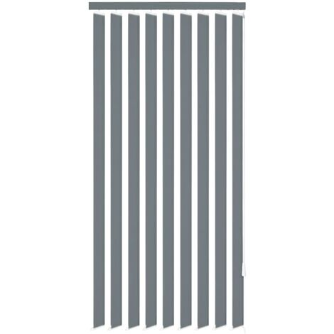 Vertical Blinds Grey Fabric 180x180 cm