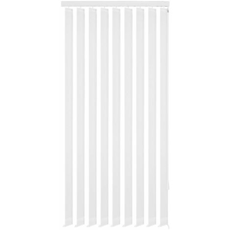 """main image of """"Vertical Blinds White Fabric 120x250 cm"""""""