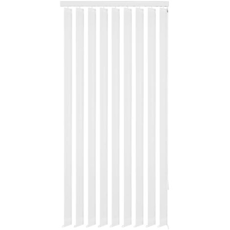 Vertical Blinds White Fabric 120x250 cm
