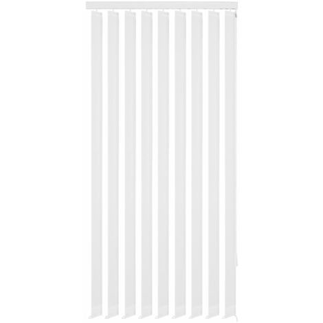 Vertical Blinds White Fabric 150x250 cm