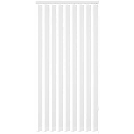 Vertical Blinds White Fabric 195x250 cm