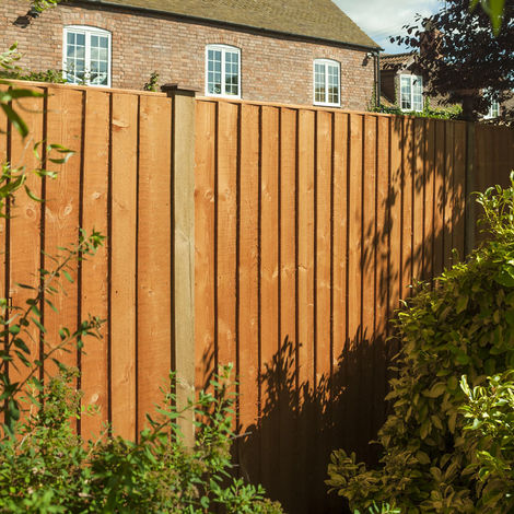 Vertical Board Featheredge Fence Panel Dip Treated