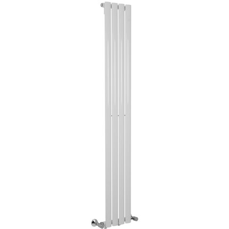 Norden 1600 x 240mm White Single Oval Tube Vertical Radiator - please select - please select