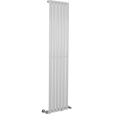 Norden 1600 x 360mm White Single Oval Tube Vertical Radiator - please select - please select