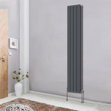 Vertical Flat Column Designer Radiator Premium Bathroom Heater Central Heating Double Panel Anthracite 1800x272