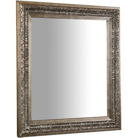Vertical / horizontal antiqued gold finish W 68xDP3xH78 cm sized hanging mirror