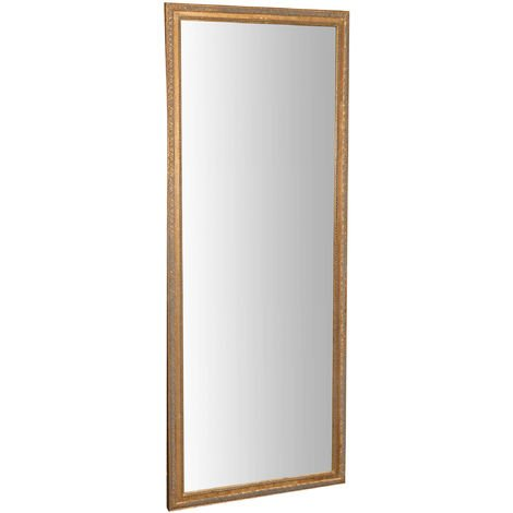 Vertical / horizontal antiqued gold finish W72xDP3xH180 cm sized hanging wall mirror