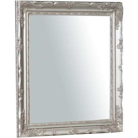 Vertical / horizontal antiqued silver finish sized Hanging Wall Mirror