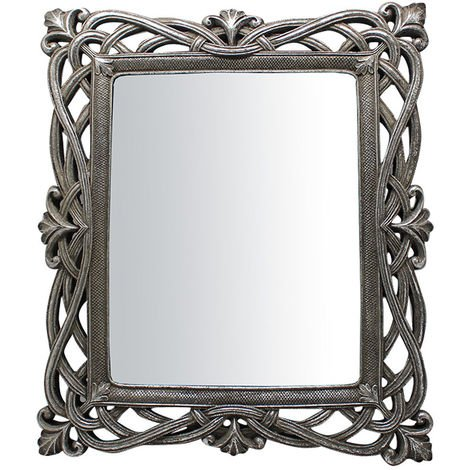 Vertical / horizontal antiqued silver finish W31xDP2xH36 cm sized wall.mounted and Hanging Wall Mirror