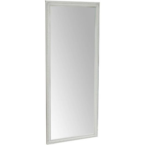 Vertical/horizontal antiqued white finish W72xDP3xH180 cm sized hanging wall mirror