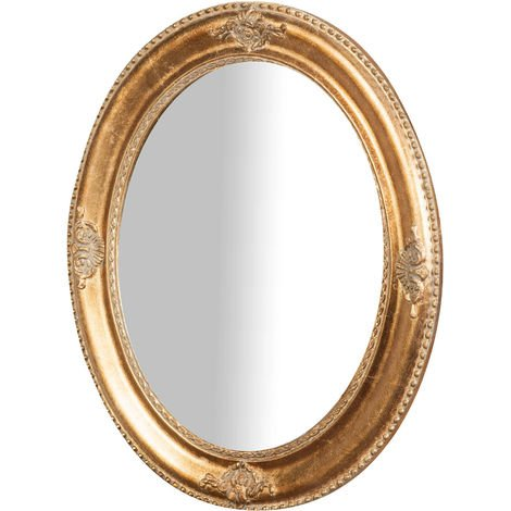 Vertical / horizontal W54xDP3xH64 cm sized antiqued gold finish Hanging Wall Mirror
