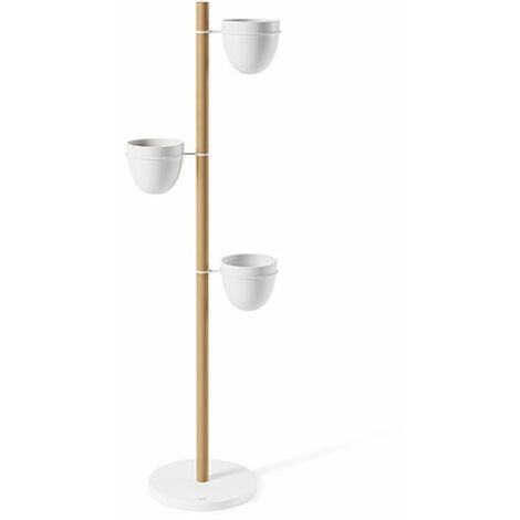 """main image of """"Vertical Indoor Planter - Floristand - Light Wood & White"""""""