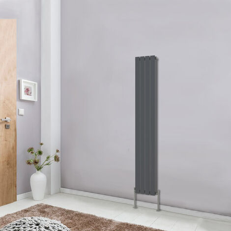 Vertical Radiator 1600x272 Central Heating Single Flat Panel Anthracite Rads
