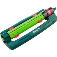 VERTO 15G772 Rociador oscilante, cobertura hasta 418 m2, 18 rubber ca–os, incluye limpia-orificios