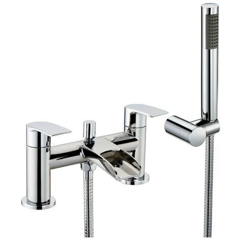 Vespa Chrome Bath Shower Mixer & Shower Kit