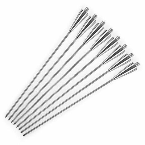 """main image of """"Vesta Torches de jardin à huile set 8 pièces 245 ml inox"""""""