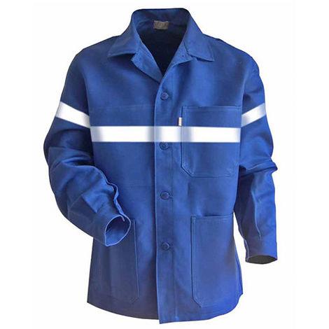 Veste à boutons avec bandes rétro-réfléchissantes - AMBRE - Bleu bugatti