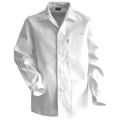 Veste artisan peintre avec col chevalière et fermeture à boutons - Gamme Peinture - ROULEAU - BLANC - 200244 - LMA Lebeurre